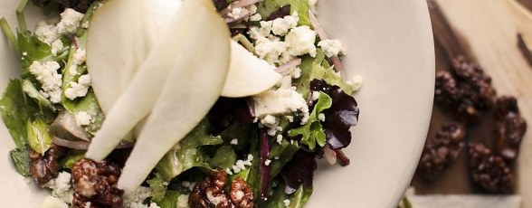 photo of pear walnut salad